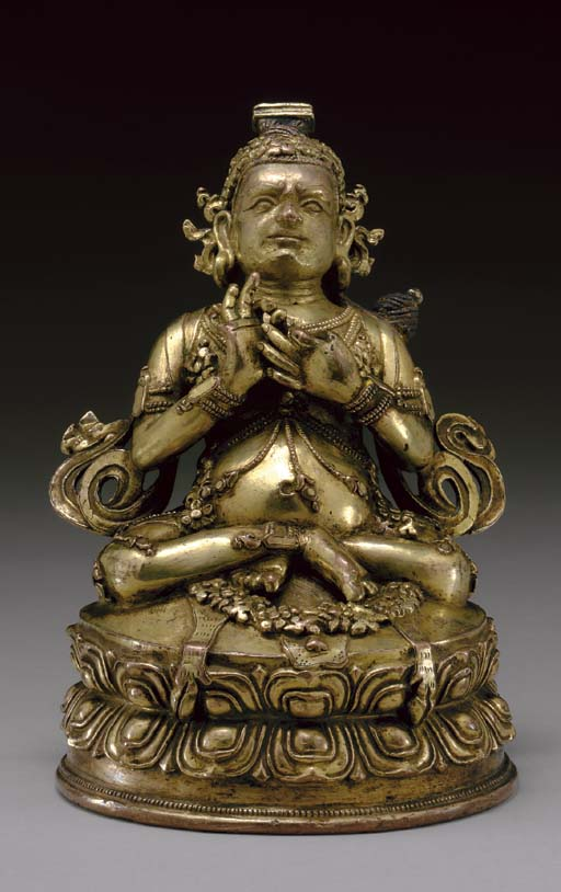 A Gilt Bronze Figure of Virupa