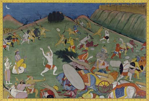 A Scene from the Ramayana: Bat