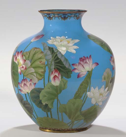 A Large Cloisonné Enamel Vase