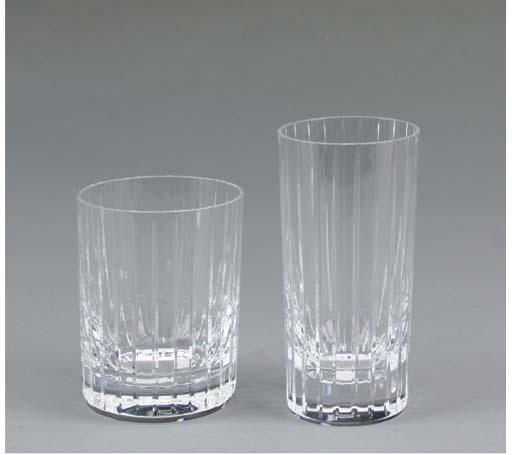 A BACCARAT GLASS BARWARE SERVI