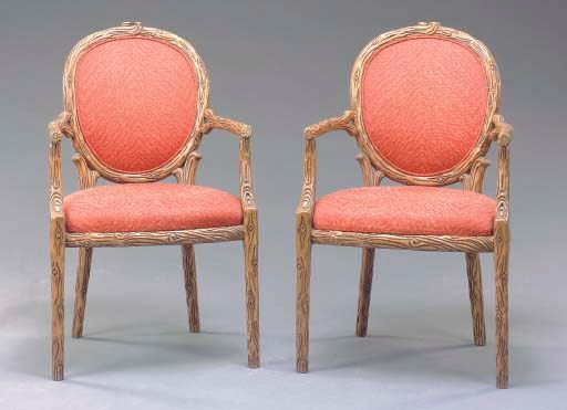 A PAIR OF LOUIS XVI STYLE RUST
