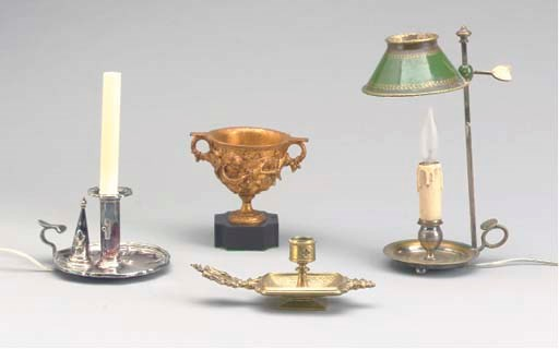 A GROUP OF FOUR TABLE OBJECTS,