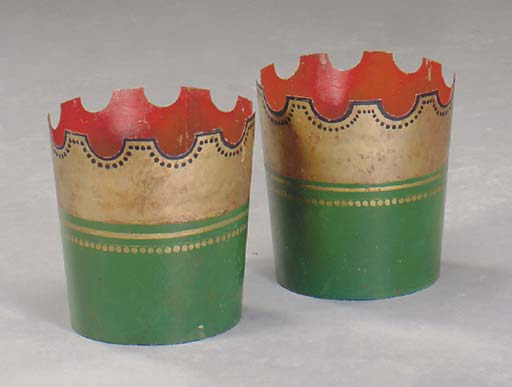 A PAIR OF GREEN, BLACK AND GIL