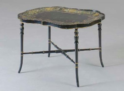 A VICTORIAN PARCEL-GILT AND EB