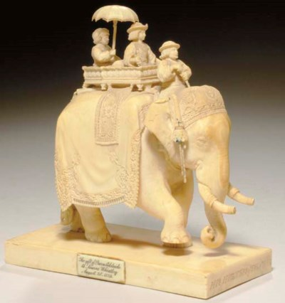 AN INDIAN IVORY CARVING OF HIS
