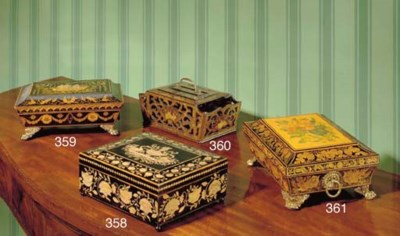 CHINESE EXPORT BLACK AND GILT-