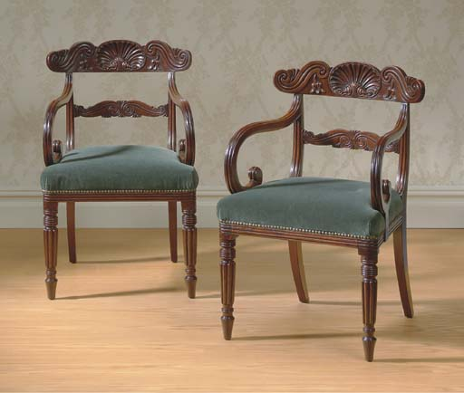 A PAIR OF REGENCY MAHOGANY OPE