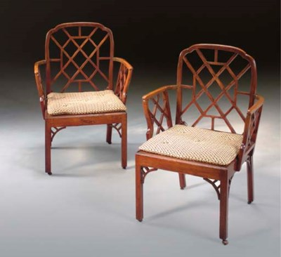 A PAIR OF GEORGE III FRUITWOOD