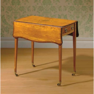 A GEORGE III SATINWOOD, TULIPW