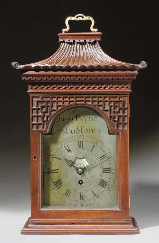 A GEORGE III MAHOGANY TABLE TIMEPIECE