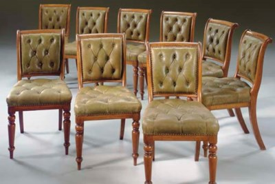 A SET OF NINE EARLY VICTORIAN