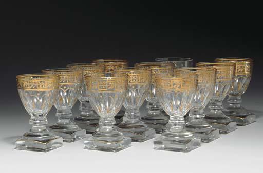 A SET OF TWELVE GLASSES