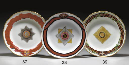 A PORCELAIN SOUP PLATE FROM TH