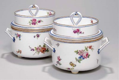 A PAIR OF SEVRES ICE PAILS, CO