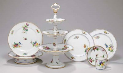 A GROUP OF FRENCH SEVRES DESSE