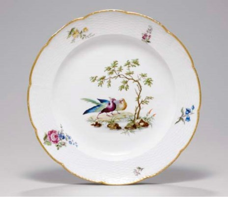 AN EARLY SEVRES OZIER-MOULDED
