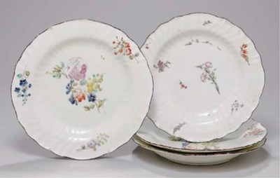 FOUR CHANTILLY PLATES