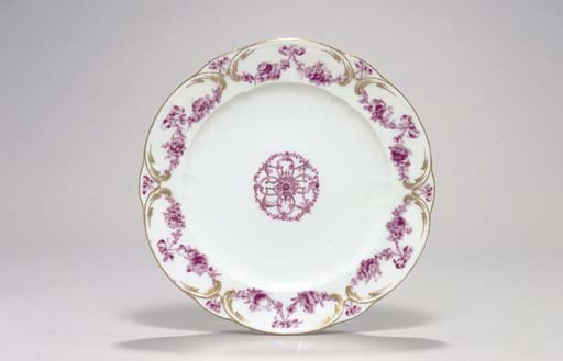 A VINCENNES PLATE FROM THE 'GU