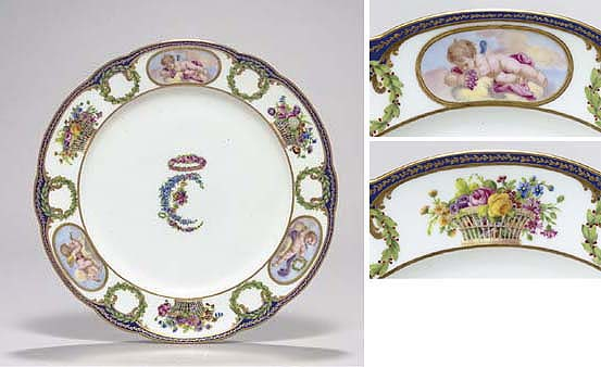 A SEVRES PLATE FROM THE 'CHARL
