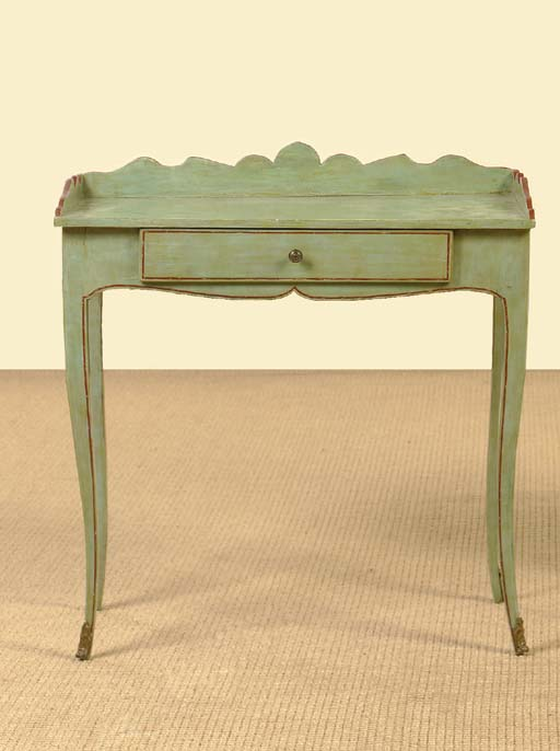 A FRENCH PROVINCIAL GREEN-PAIN