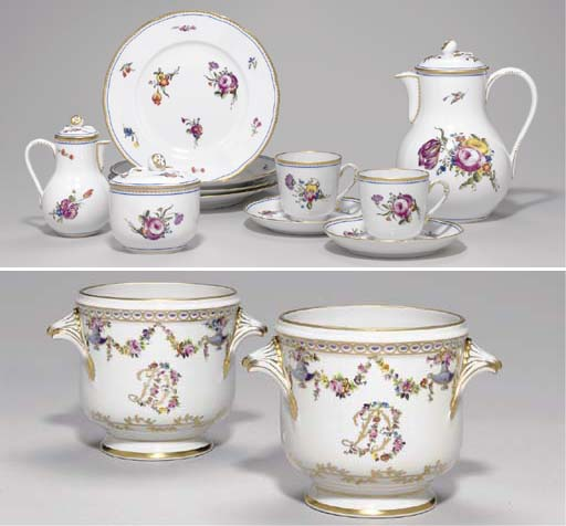 A LIMOGES PART COFFEE SERVICE