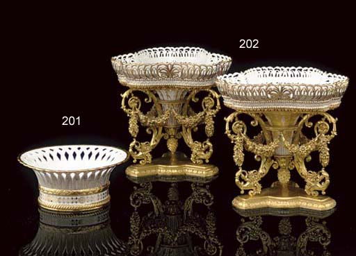 A SEVRES (HARD PASTE) GOLD-GRO