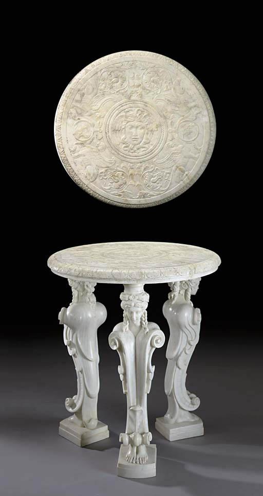 An Italian Neoclassic style wh