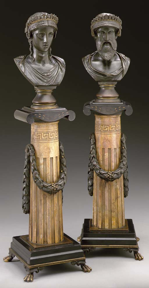 A pair of French parcel-gilt C