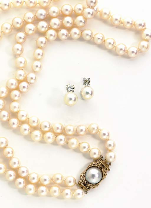 A GROUP OF CULTURED PEARL JEWE