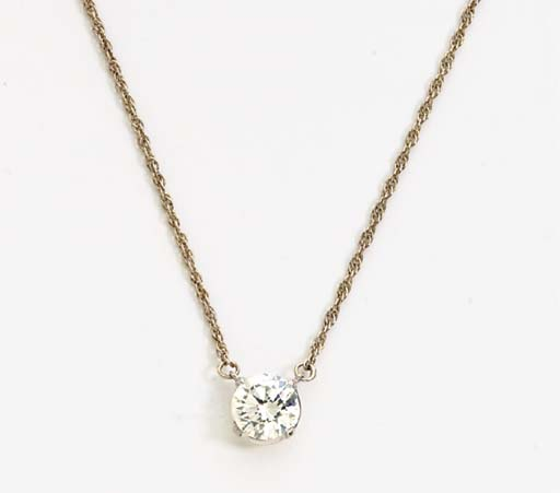 A DIAMOND AND 14K GOLD NECKLAC