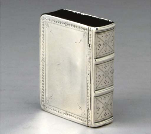 A GEORGE III SILVER BOOK-FORM