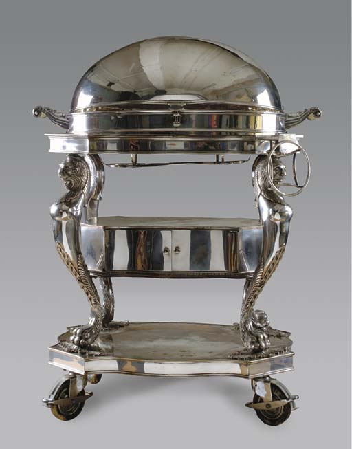 AN ENGLISH SILVER-PLATED ROAST