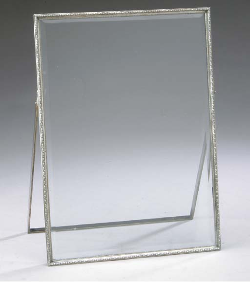 TWO SILVER-PLATED AND BEVELED