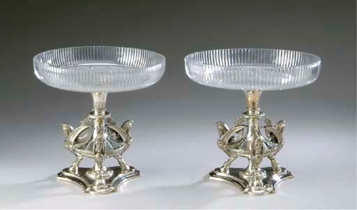 A PAIR OF SILVER-PLATED AND CU