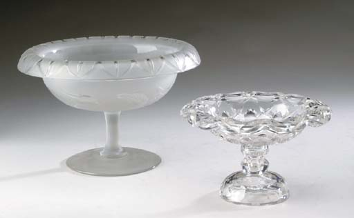 AN ANGLO-IRISH CUT-GLASS COMPOTE,
