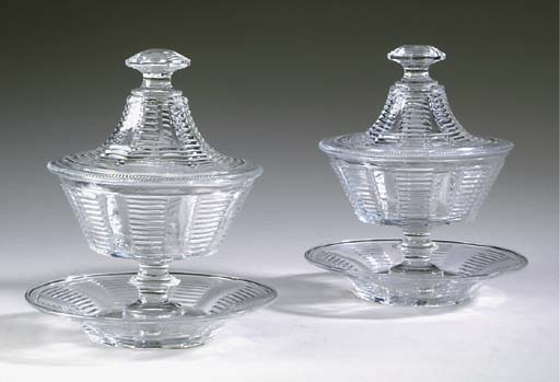 A PAIR OF ANGLO-IRISH CUT-GLAS