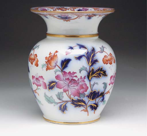 AN ENGLISH PORCELAIN FLARED BA
