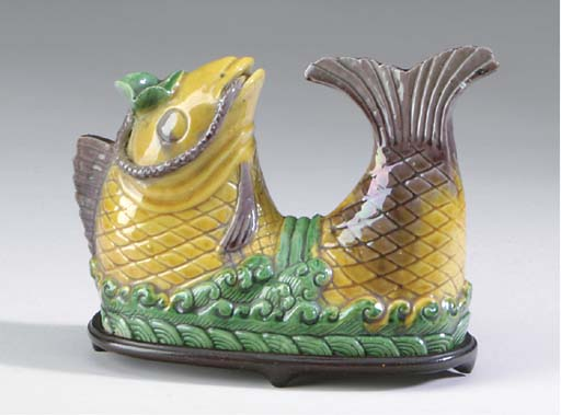 A CHINESE YELLOW, AUBERGINE AN