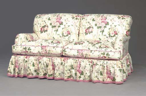 Contemporary Fl Chintz Covered Sofa