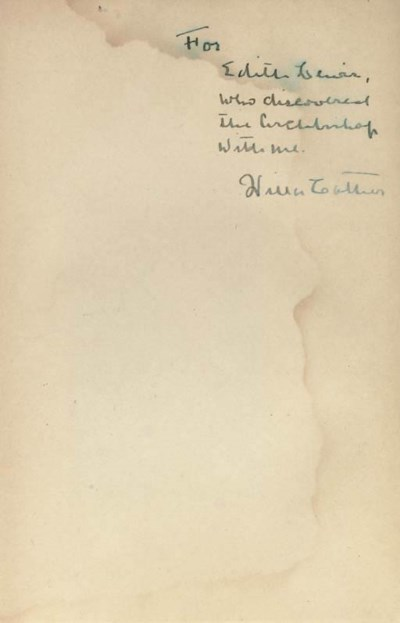 CATHER, Willa (1873-1947).  De
