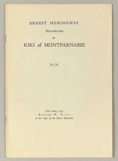 HEMINGWAY, Ernest.  Introducti