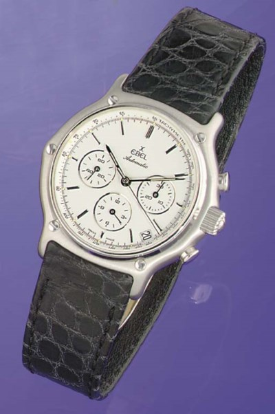 EBEL. AN 18K WHITE GOLD AUTOMA