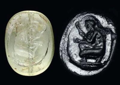A GREEK GLASS SCARABOID