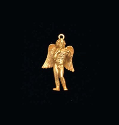 A GREEK GOLD EROS PENDANT