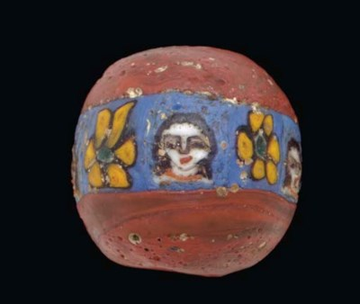 A ROMAN MOSAIC GLASS BEAD