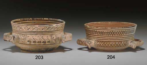 AN ATTIC POTTERY HIGH-RIMMED BOWL