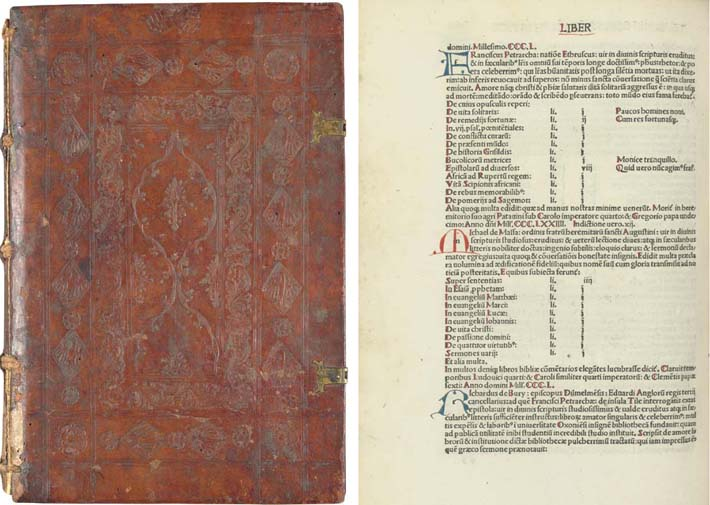 TRITHEMIUS, Johannes (1462-1516). Liber de Scriptoribus Ecclesiasticis. Ed. Johann Heynlin (previously editor of the first Parisian press). Basel: Johann Amerbach, 1494 (not before 28th August).