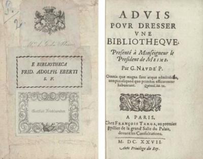 NAUDÉ, Gabriel (1600-53). Advi
