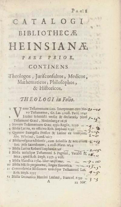 HEINSIUS, Nicolaus (1620-81) -