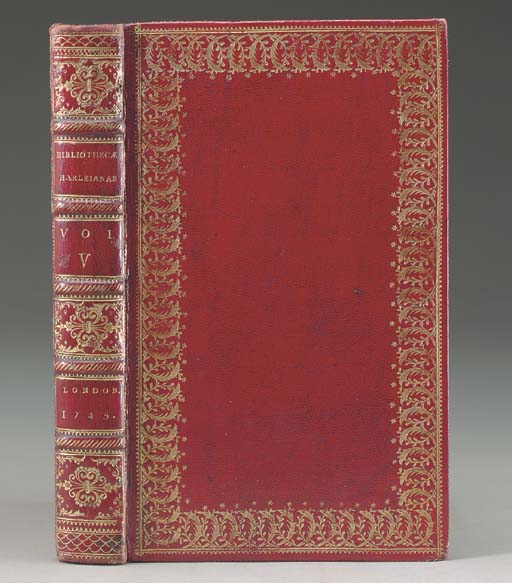 HARLEIAN LIBRARY -- [William OLDYS (1696-1761), Samuel JOHNSON (1709-84) and Michel MAITTAIRE (1668-1747)]. Catalogus Bibliothecae Harleianae. London: Thomas Osborne, 1743-45.